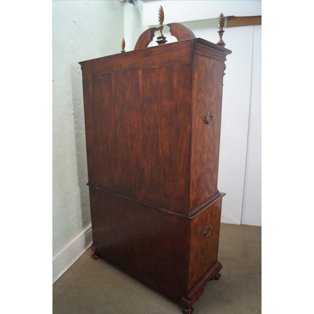 Image of Theodore Alexander Mahogany Chippendale Highboy