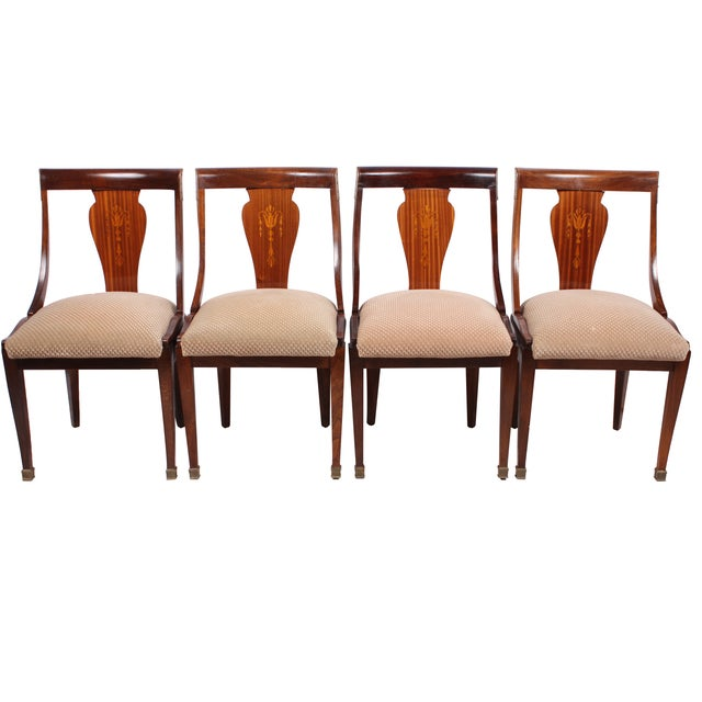 French Directoire Style Chairs - Set of 4 - Image 1 of 4