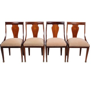French Directoire Style Chairs - Set of 4