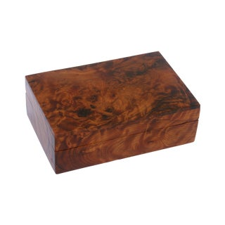 Decorative Juniper Burl Wood Rectangular Box