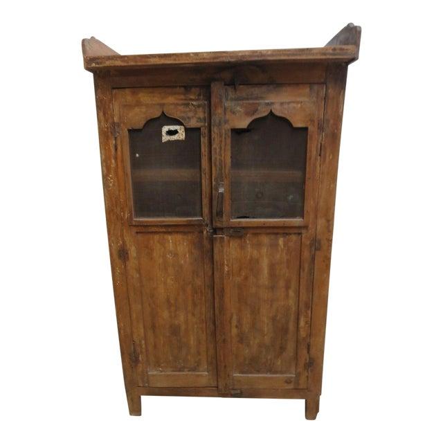 Antique Primitive China Cabinet Cupboard - Image 1 of 8