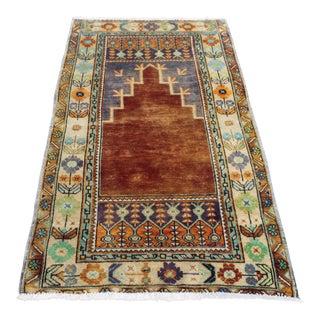 Anatolian Turkish Oushak Vintage Rug - 3′1″ × 5′4″