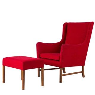 Ole Wanscher Lounge Chair and Stool