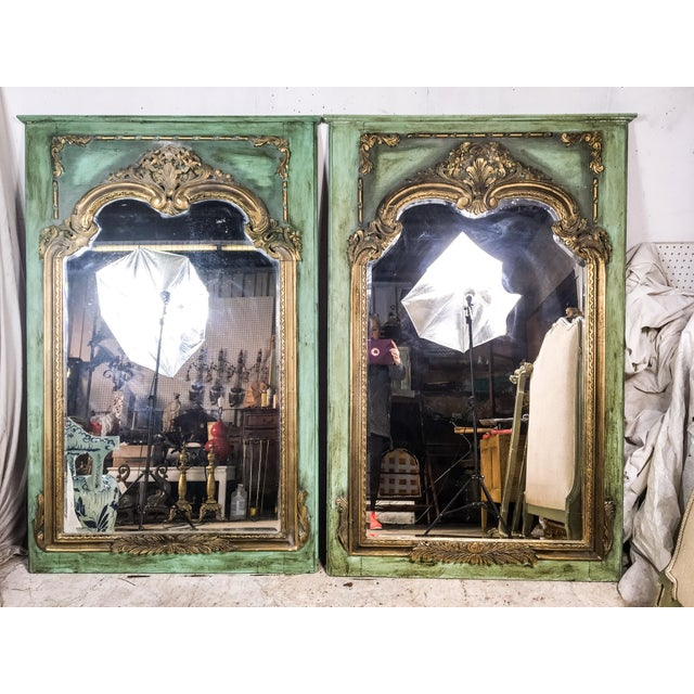 Gilded Antique French Mirrors - A Pair - Image 2 of 4