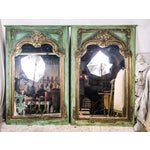 Image of Gilded Antique French Mirrors - A Pair