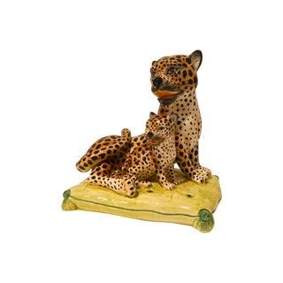 1960s Italian Ceramic Leopard