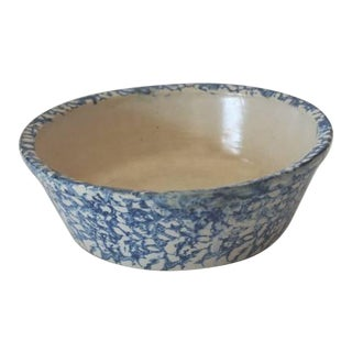 19th Century Spongeware Serving Bowl