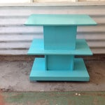 Image of Mid-Century High Gloss Chalk Painted Cart