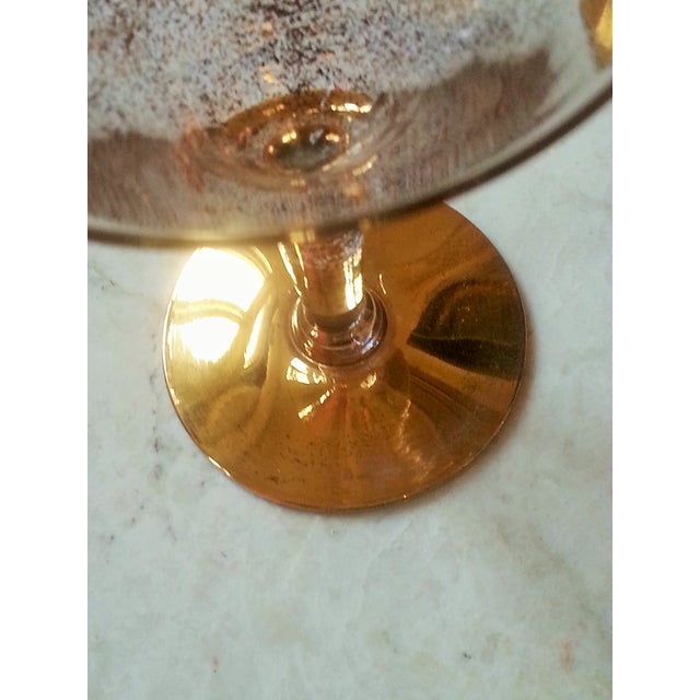 Dorothy Thorpe Cocktail Glasses W/ Gold Flecks - 4 - Image 6 of 10