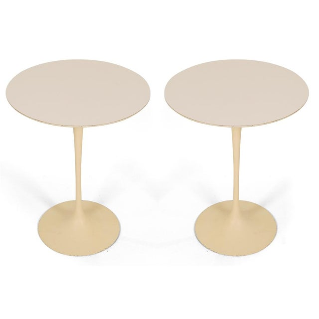"Eero Saarinen for Knoll Cast Iron ""Tulip"" Tables - a Pair - Image 2 of 3"