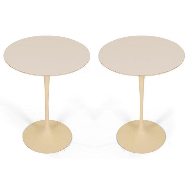 Eero Saarinen for Knoll International Cast Iron 'Tulip' Side Tables - a Pair - Image 2 of 3