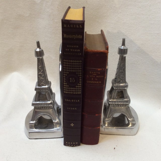 Aluminum Eiffel Tower Bookends - A Pair - Image 3 of 6