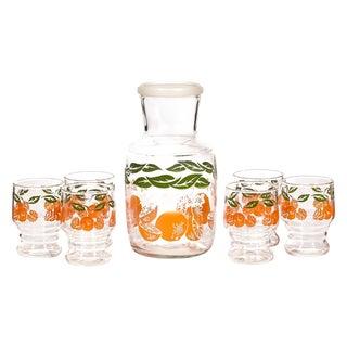 1960's Orange Juice Set - Set of 7