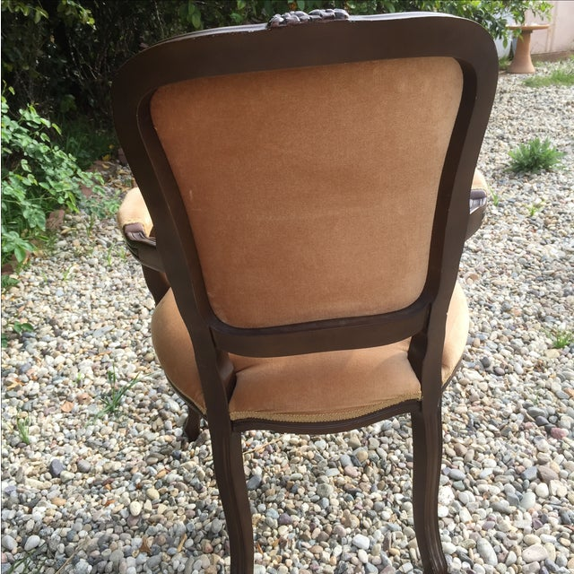 Vintage French Provincial Carved Wood Armchair - Image 4 of 8