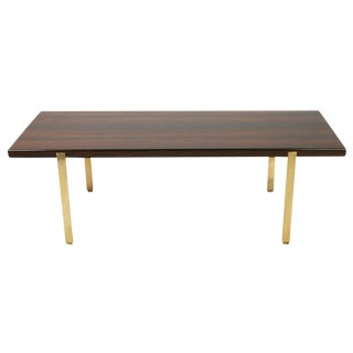 Harvey Probber Reductive Rosewood & Brass Cocktail Table