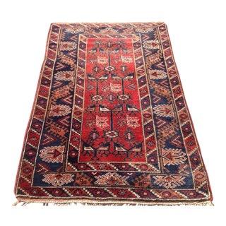 "Vintage Anatolian Rug - 4' x 6'2"""