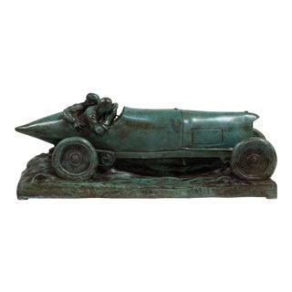 A Bronze Cast of a Mercedes Blitzen Benz by Talisman