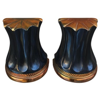 Art Deco Column Bookends - A Pair