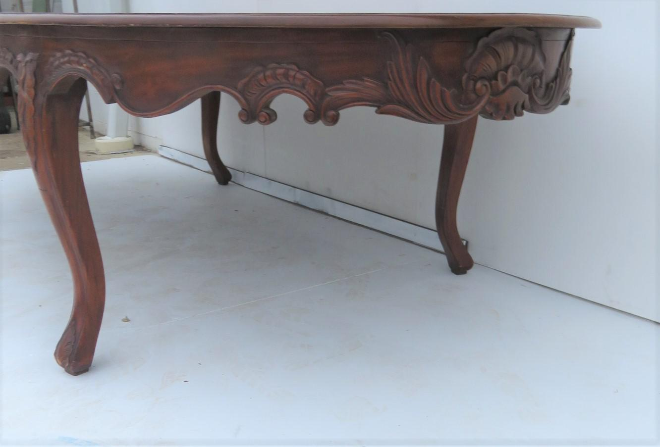 Carved Mahogany Oval Conference Table   Image 4 Of 6