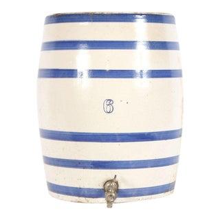 Striped Ceramic Crock