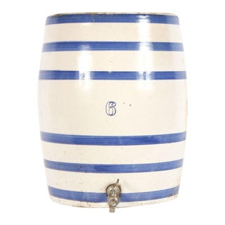 Striped Ceramic Crock