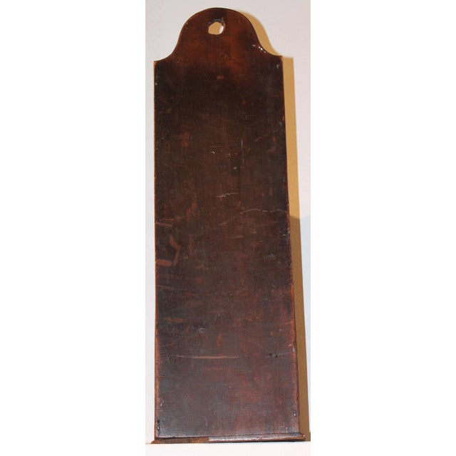 Early 19th Century New England Painted Walnut Pipe Wall Box - Image 6 of 6