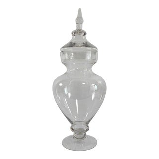 Tall Glass Apothecary Jar with Lid