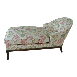 Vintage Floral Chaise Lounge