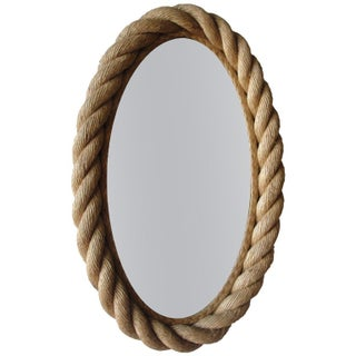 Braided Rope Oval Mirror By Audoux Et Minet