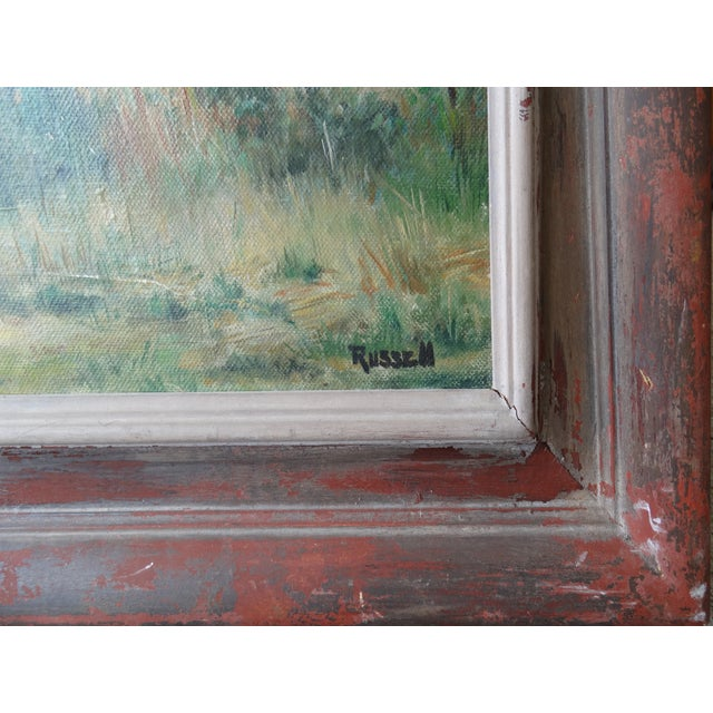 Vintage Landscpe Oil Painting by Russell - Image 2 of 10