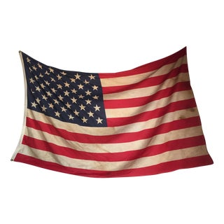 1960s Era 50 Star Cotton American Flag