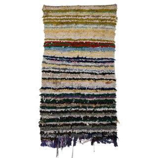 Moroccan Boucherouite Rag Carpet - 3′ × 5′5″