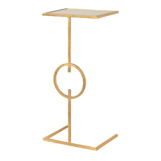 Worlds Away Georgia Cigar Table - Gold