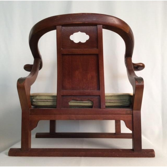 Hardwood Chinese Chairs - Pair - Image 4 of 7