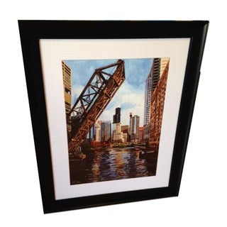River West Framed Giclee Print by Josh Moulton