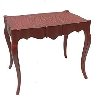Vintage Burgundy Side Table