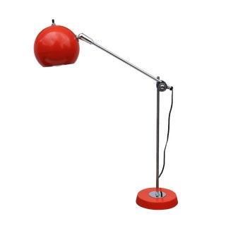 Orange Eyeball Table Lamp by Robert Sonneman