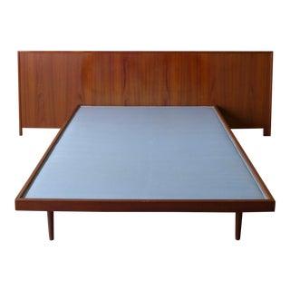 Mid-Century Modern Full Size Teak Platform Bed