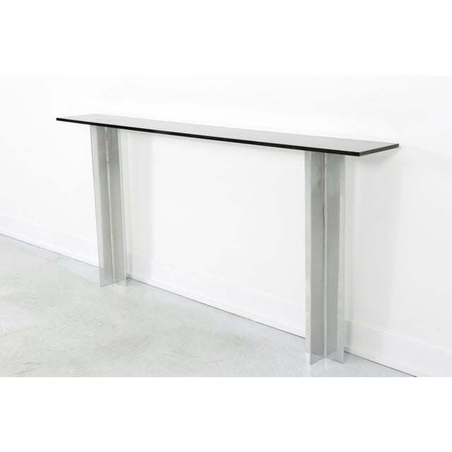 Pace Smoked Glass Console Table - Image 2 of 6