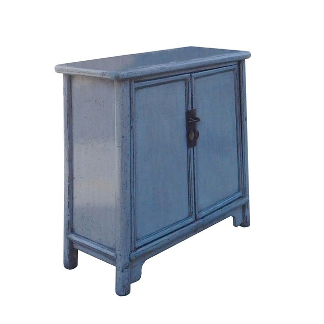 Chinese Rustic Gray Side Cabinet - Image 2 of 6