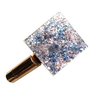 1950s Confetti Lucite Folding Lipstick Compact