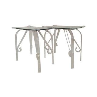 Vintage Lucite & Mirror End Tables - A Pair