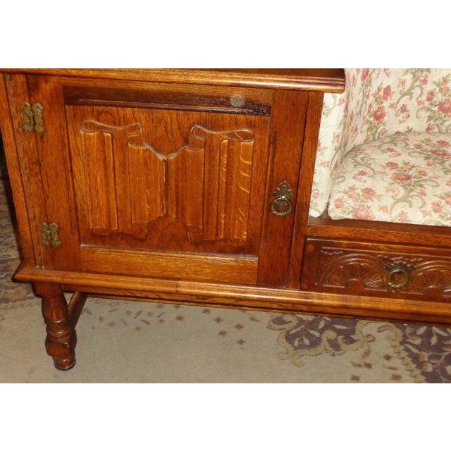 Edwardian Mid-Century Telephone Sofa Bench - Image 10 of 11