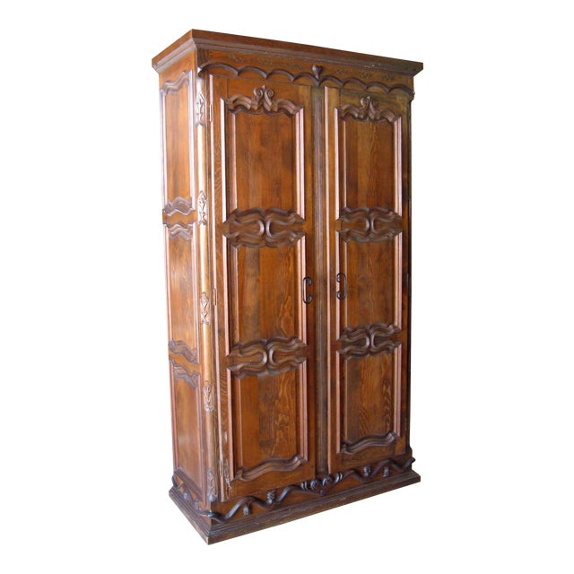 Solid Pine Reproduction Armoire Chairish