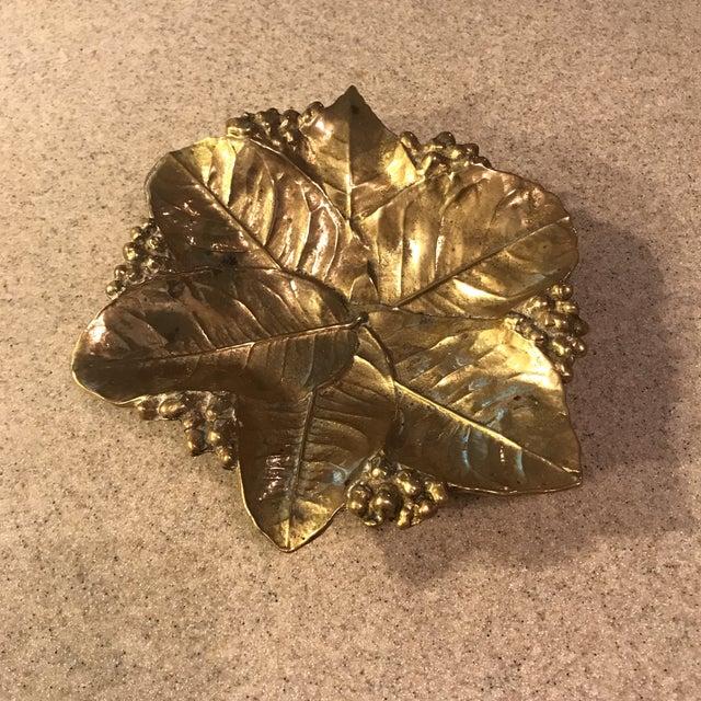 Virginia Metal Crafters Brass Lemon Leaves Tray - Image 2 of 9