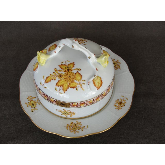 Herend Chinese Floral Butter Dish - Image 3 of 11