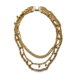 Napier Pom Pom Gold Necklace