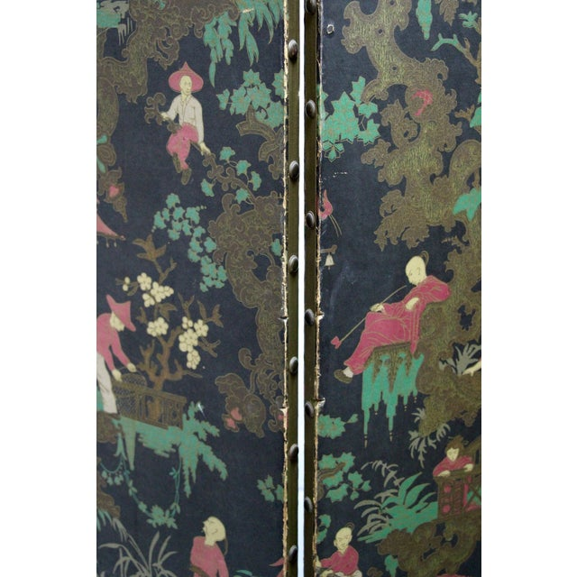 Antique Chinoiserie Folding Floor Screen - Image 5 of 8