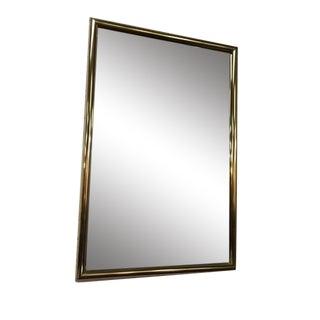 Vintage Brass Beveled Glass Mirror