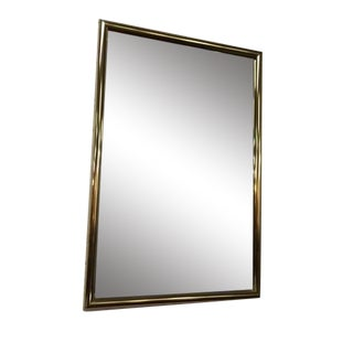 Vintage Brass Beveled Glass Mirror